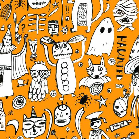 Orange Creep It Real Halloween