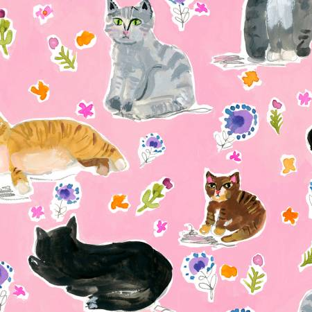 Dear Stella Multi Purrty Cats DAW1211