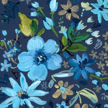 Dear Stella Blue Crush- Multi Blue Night Garden