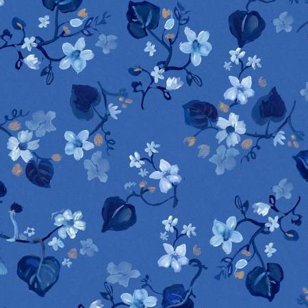 Multi Blue Fall Leaves