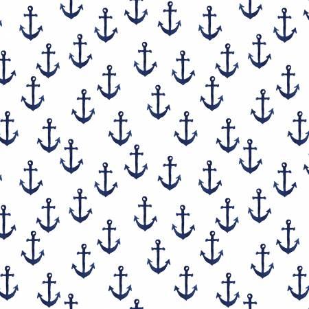 White Anchors ST-DAW1362WH
