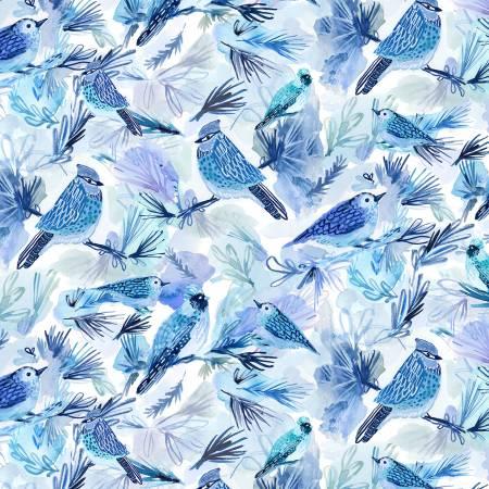 STELLA-DAW1584 Multi Bluebirds Holiday Blooms Digital Dear Stella