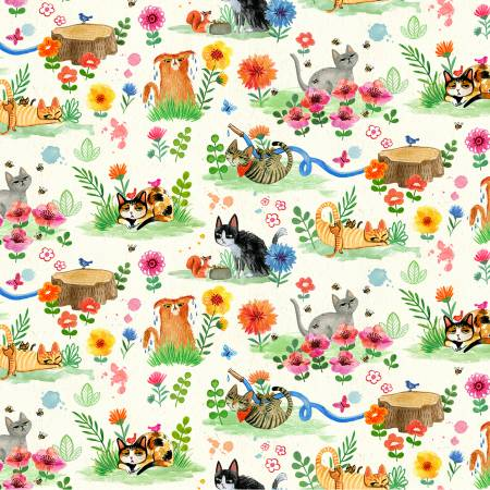 Cream Cat Garden
