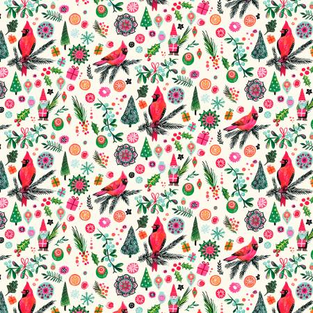 Deck The Halls   Rebel Without a Clause Fabric by Miriam Bos for Dear Stella