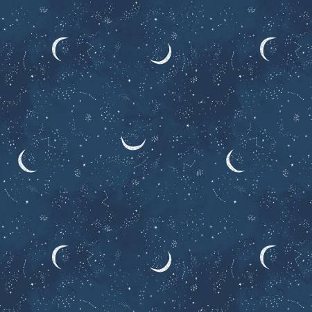 Brave Enough To Dream Crescent Moon Cotton Flannel 44