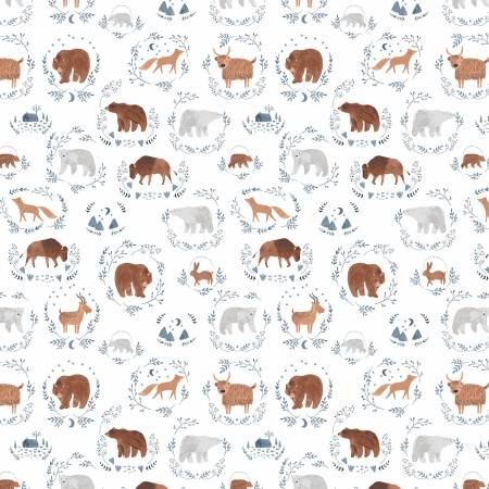 White Wild Things Flannel