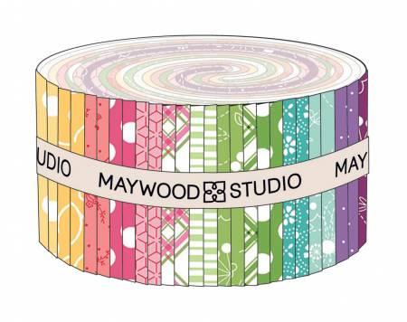 Kim's Picks - Spring 2-1/2in Strips, 40pcs/bundle by Maywood Studio