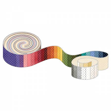2-1/2in Strips Classic Dots 609's 40pcs