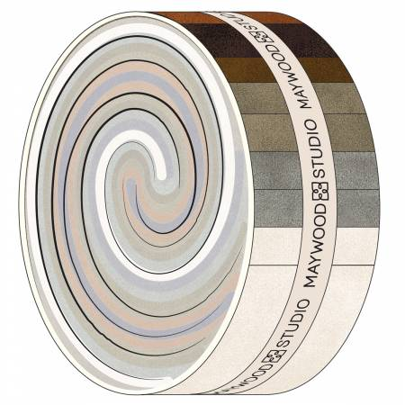 2-1/2in Strips Color Wash Flannel 40pcs/bundle