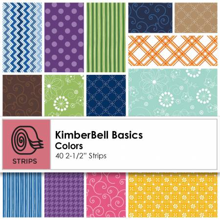 2-1/2in Strips Kimberbell Basics Colors 40pcs
