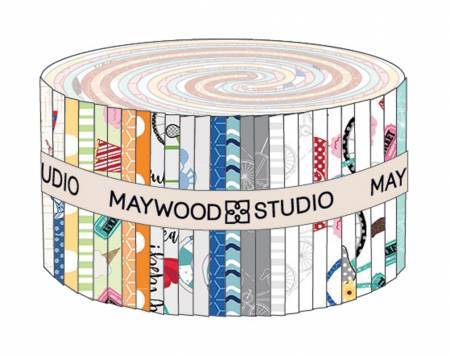 Maywood Studio Kimberbell 2-1/2in Strips Vintage Boardwalk