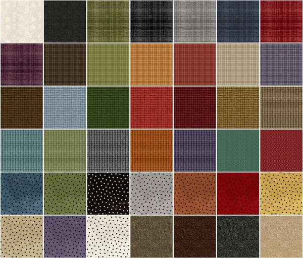 2-1/2in Strips Woolies Flannel Assorted 40pcs