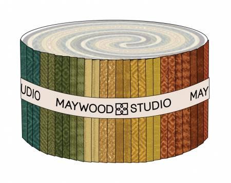2-1/2in Strips Woolies Flannel Desert Sunset, 40pcs/bundle
