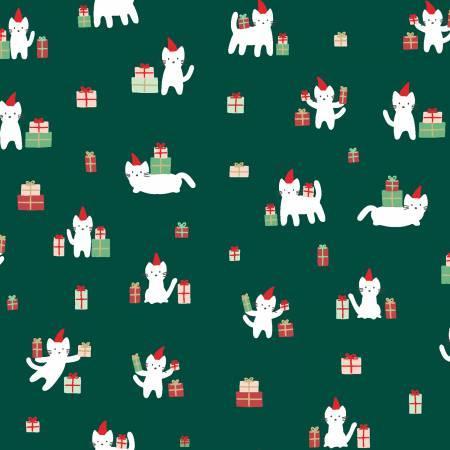 Dear Stella Fir Cat Christmas in Green