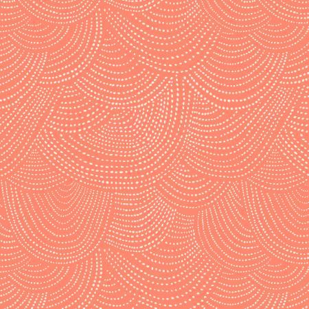 Tangerine Scallop Dot