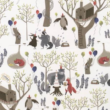 Multi Treetop Party for Stella Fabric ~Stella SRR518~