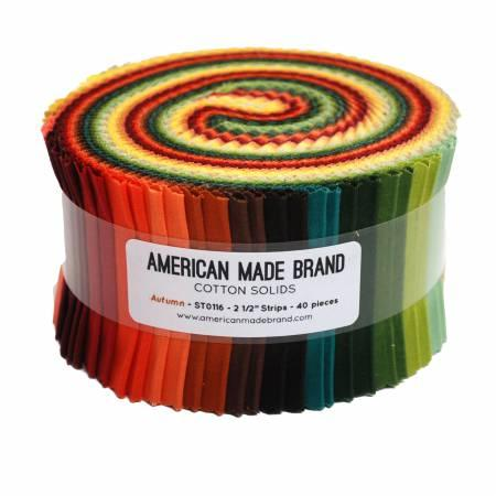 2-1/2in Strips American Made Autumn 40pcs, 2 bundles per pack
