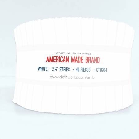 2-1/2in Strips American Made Solid White, 40pcs