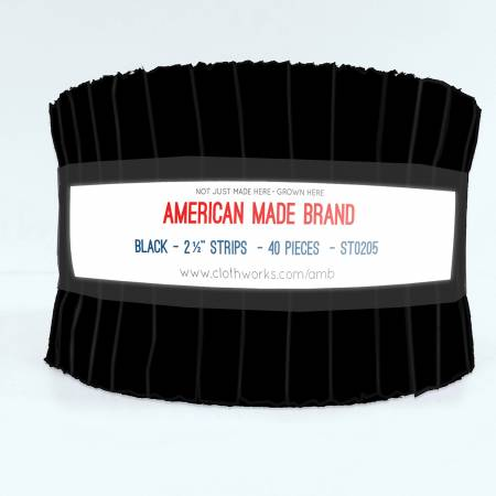 American Made Brand Solid - Black Strip Roll