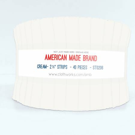 2-1/2in Strips American Made Solid Cream, 40pcs