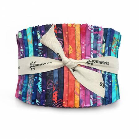 2-1/2in Strips Flying Colors Batik, 40pcs