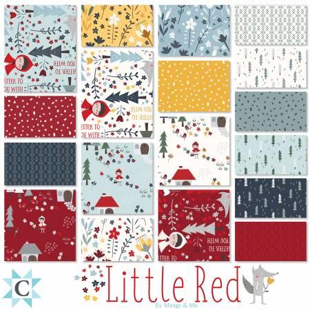 Little Red 2-1/2 Strips 40Pcs
