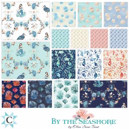 2-1/2in Strips By The Seashore, 40pcs, 4 bundles per pack