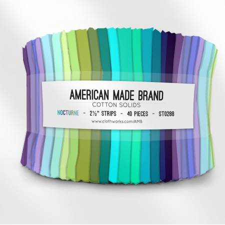 2-1/2in Strips American Made Solid Nocturne, 40pcs