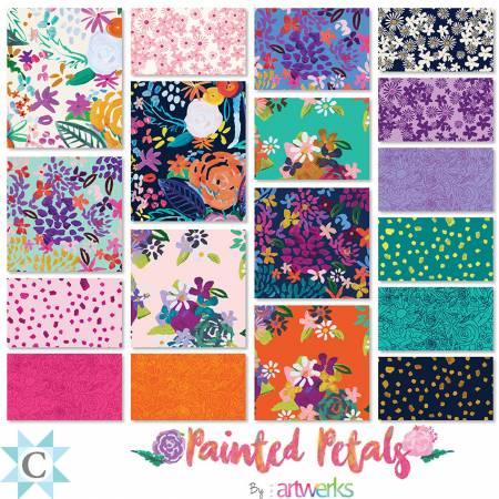 Painted Petals, 2.5-in strips, 40pcs/bundle