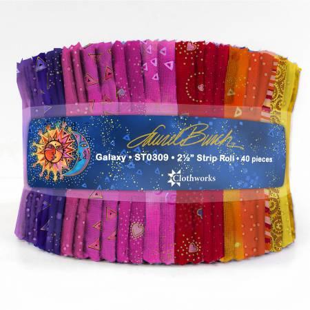 Laurel Burch Basics Galaxy, 2-1/2in Strips, 40pcs