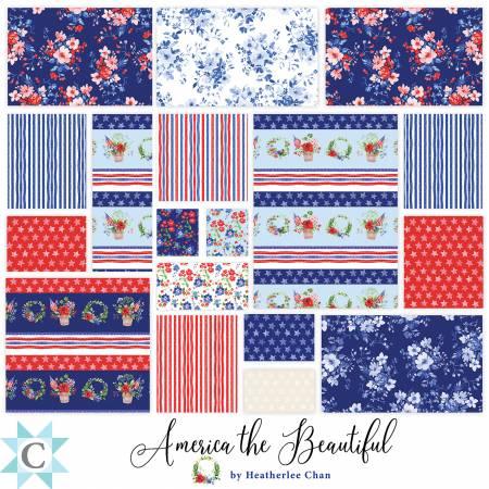 America the Beautiful 2.5 Strips, 40pcs