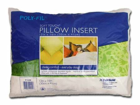 ST1216B Soft Touch Pillow Form 12in x 16in 4ct