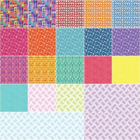 Contempo Abstract Garden Jelly Roll