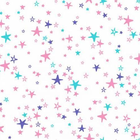Shannon fabrics minky cuddle  hot pink iris STARBRIGHTO
