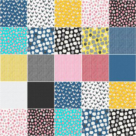 Fat Quarter State Fair, 17pcs/bundle