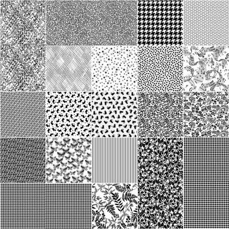 2-1/2in Strips Better Basics White/Black, 40pcs/bundle