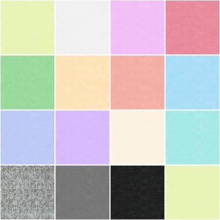 Cotton Shot Pearl - 2-1/2' strips - 40pcs