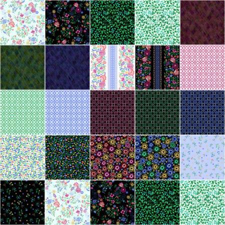 Embroidered Elegance 2 1/2in Strips - 40pcs/bundle