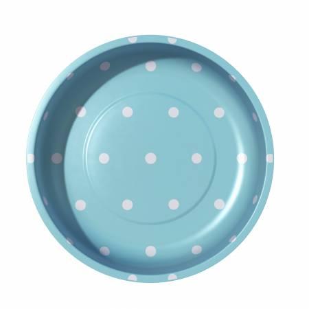 Magnetic Pin Bowl -- Polka Dots Aqua