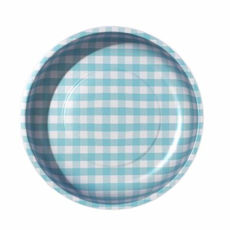 Sew Together Magnetic Pin Bowl Gingham Aqua