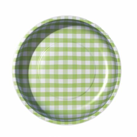 Sew Together Magnetic Pin Bowl Gingham Green