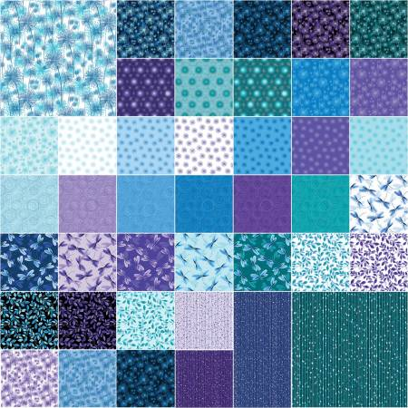 2-1/2in Strips Pearl Reflections 40pcs/bundle