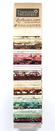 2-1/2in Strips Tonga Batik Heirloom 48pcs/pack