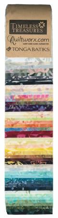 2-1/2in Strips Tonga Batik Sunset, 48pcs/bundle