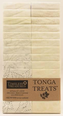 2-1/2in Strips, Tonga Batik Coconut, 20pcs/bundle