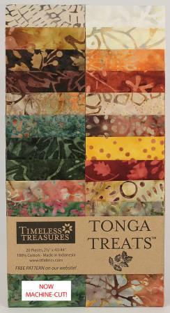 2-1/2in Strips Tonga Batik Cranberry 20pcs/pack