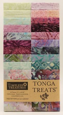 2-1/2in Strips, Tonga Batik Dahlia, 20pcs/bundle