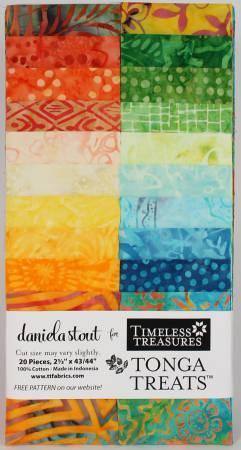 2-1/2in Strips Tonga Batik Happy Hour 20pcs/pack