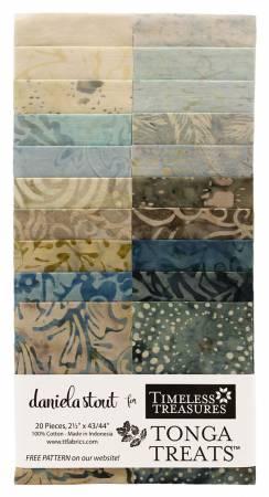 2-1/2in Strips, Tonga Batik Pebble, 20pcs/bundle