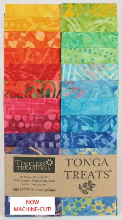 2-1/2in Strips Tonga Batik Pinwheel 20pcs/pack